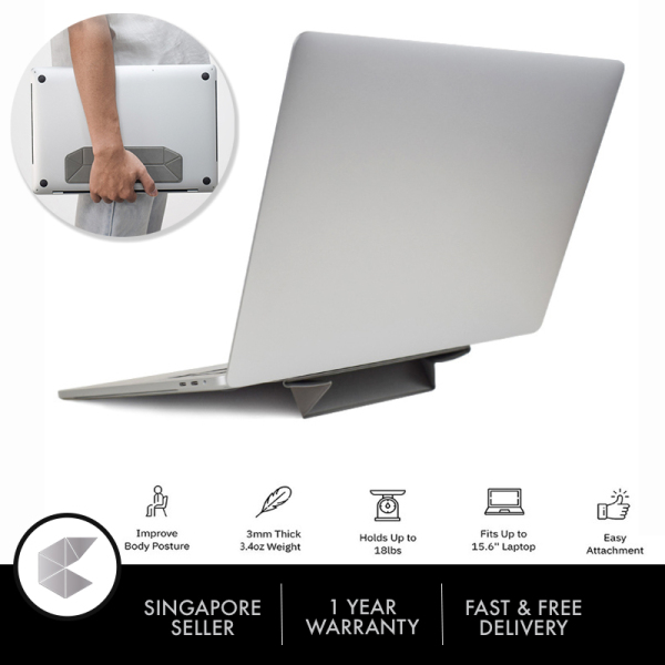 Singapore Ready Stock Laptop Stand Folding Laptop Stand Ascent Stand for MacBook, Air, Pro, Tablets and Laptops up to 15.6 Inches, Patented Design, Invisible Laptop Stand, Ergonomic design Laptop Stand