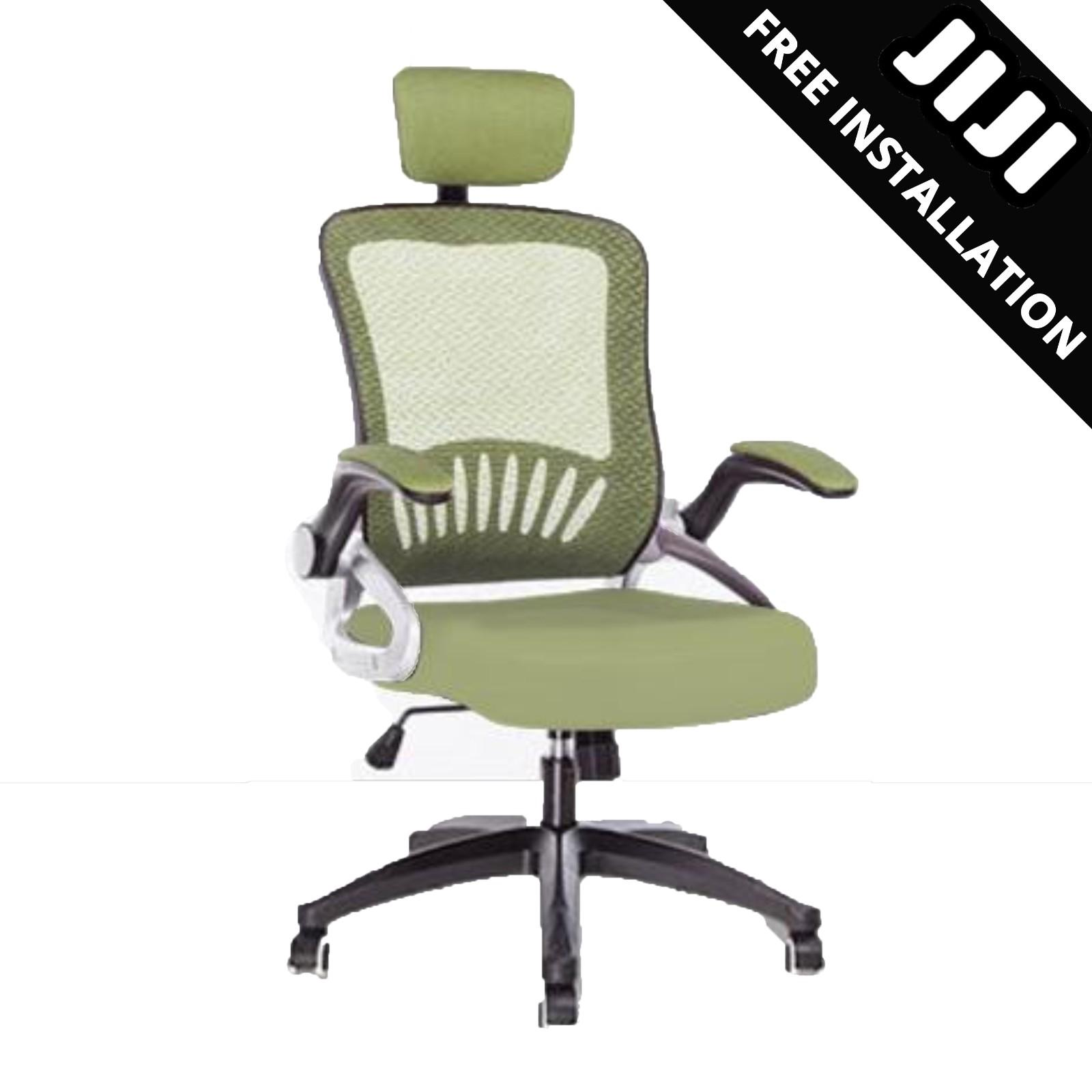 JIJI Office chair Executive Chair Ver 3 Movable ArmRest (Free Installation) - (Home Office Chair) Office chairs /Study chair/Gaming chair/Ergonomic/ Free 12 Months Warranty (SG)