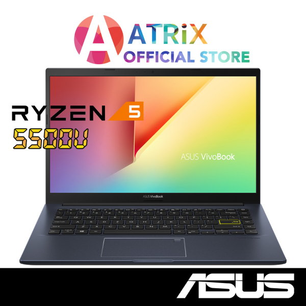 2021 model ASUS Vivobook 14 M413UA-EB222T 1.4kg thin and light | 14inch FHD | AMD Ryzen™ 5 5500U | 8GB RAM | 1Y ASUS Warranty
