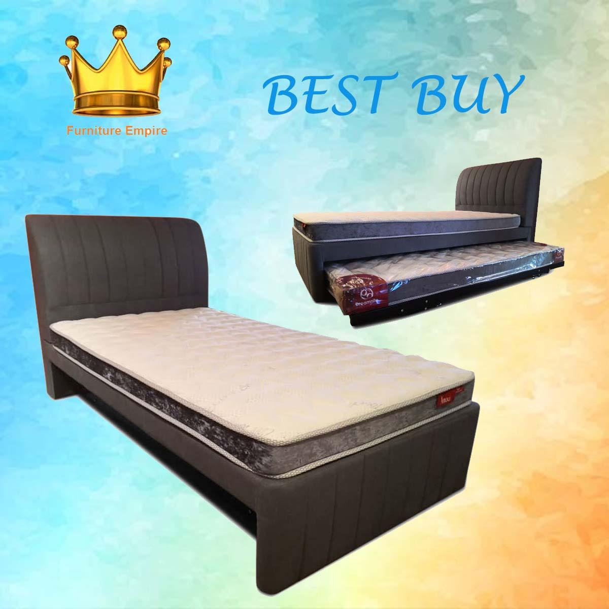 Amiel Pull Out Bed★Protector ★Anti Dustmites ★Bed Frame ★Anti Bacterial