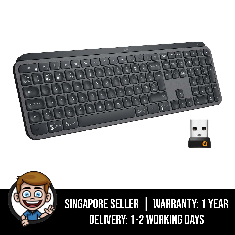 Logitech MX Keys Advanced Wireless Illuminated Keyboard - Graphite Singapore