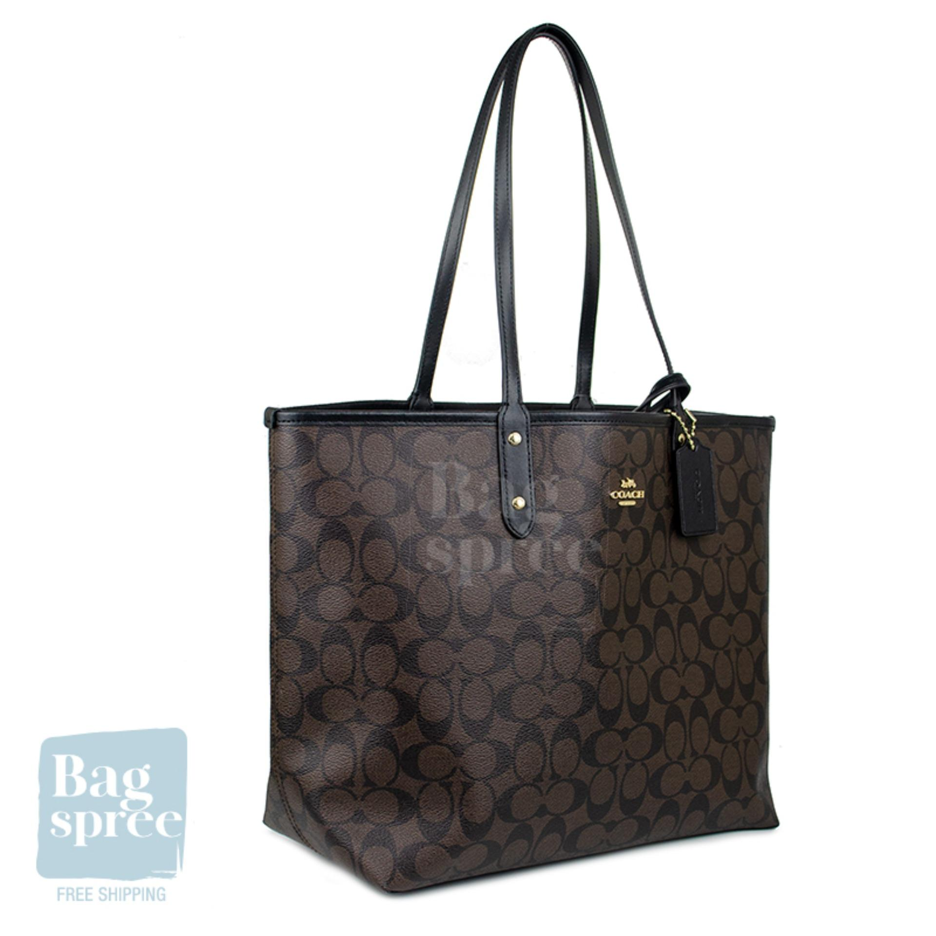 c1c589f41c729 *Authentic & Brand New* Coach Reversible City Tote In Signature Brown  Canvas Bag F36658