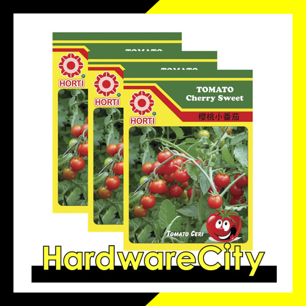 Horti Vegetable Seeds Tomato Cherry Sweet (3 PACKETS) [HWC-016]