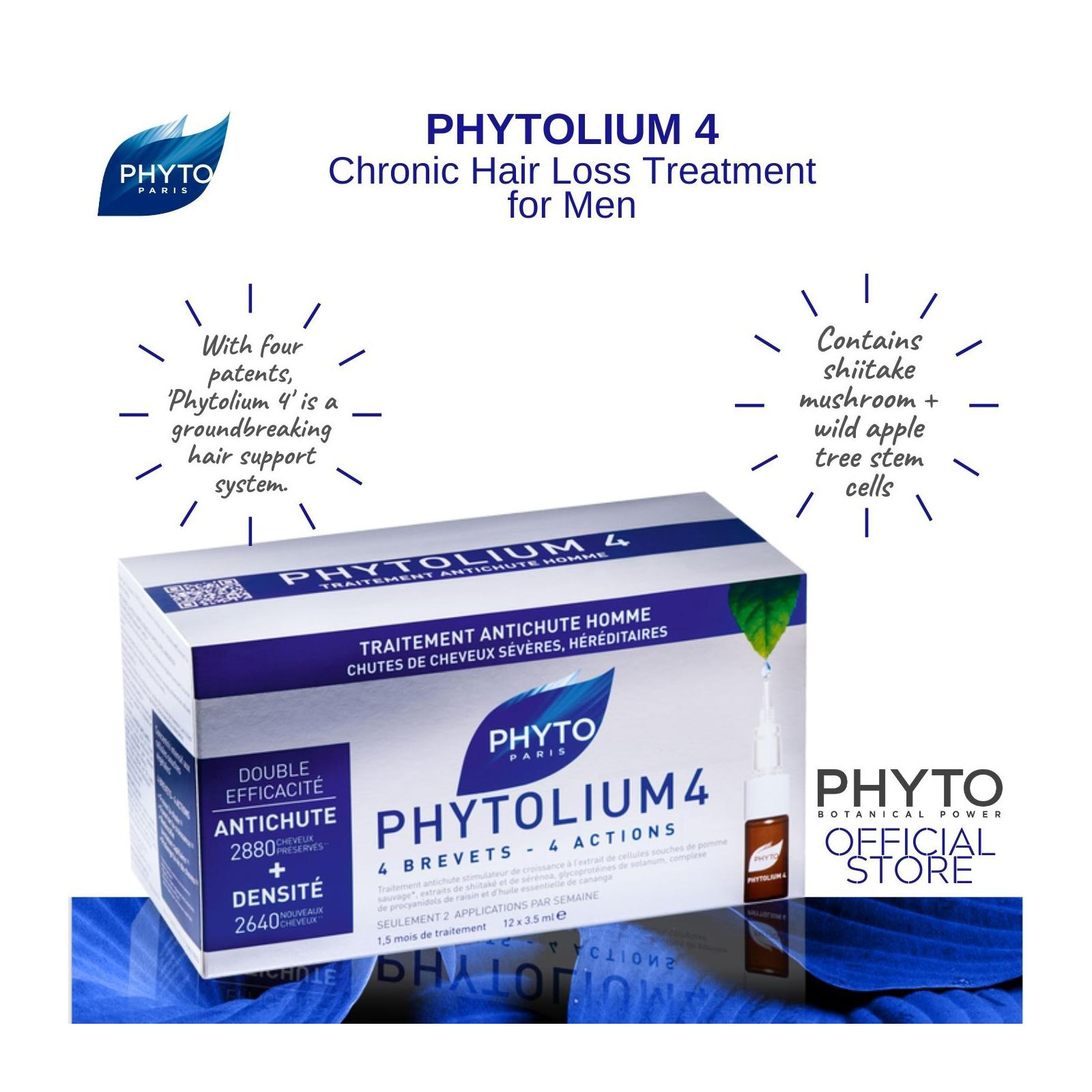 Phyto Phytolium 4 Anti-Hair Loss Concentrate With Botanical Stem Cells (88% Efficacy)