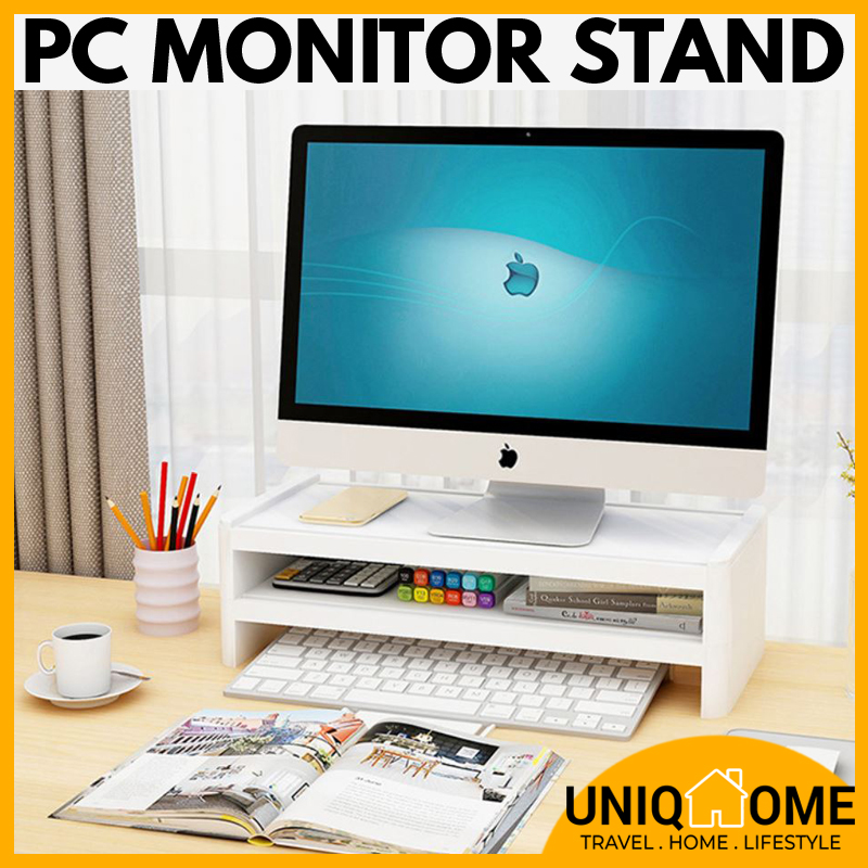 Uniqhome PC Monitor Stand computer stand Single Tier Dual Tier Table Organizer Table Organiser Office Table Organizer Office table Organiser
