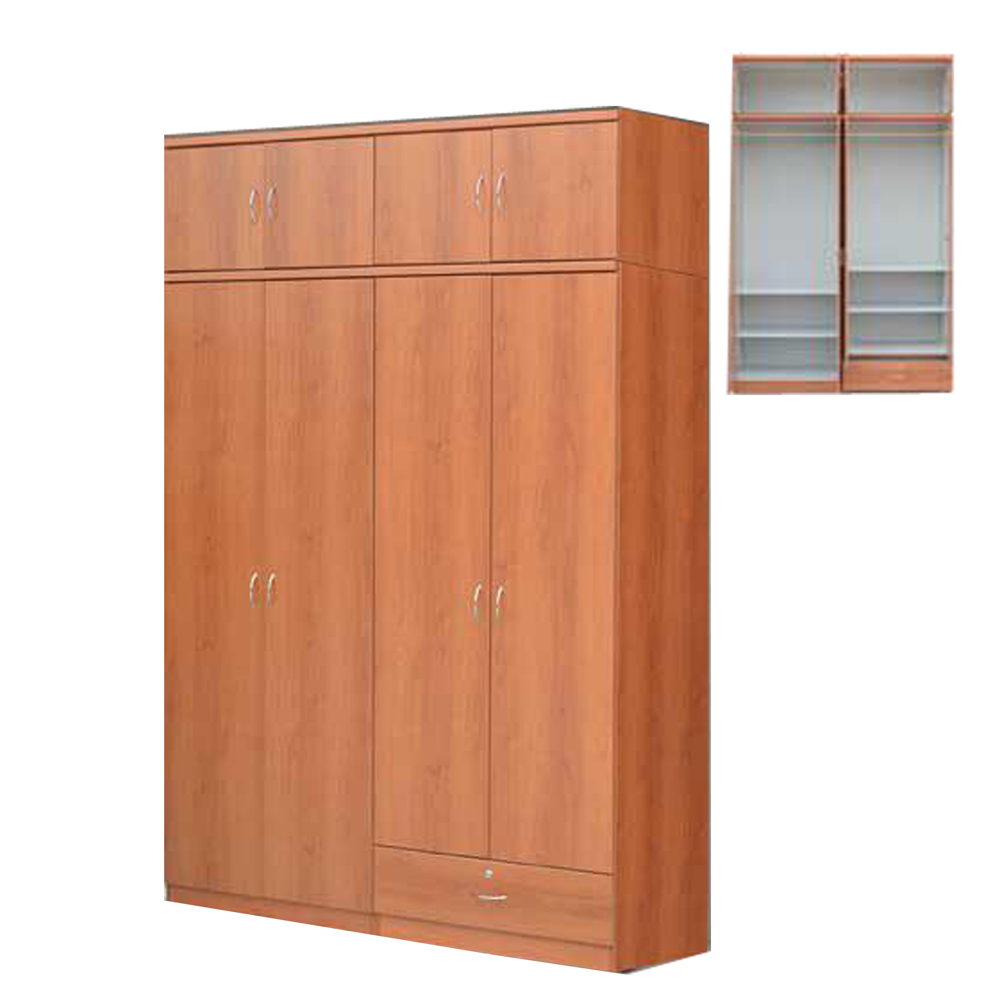 Zee 5ft 8 Doors Wardrobe With Drawer (Free Delivery and Installation)