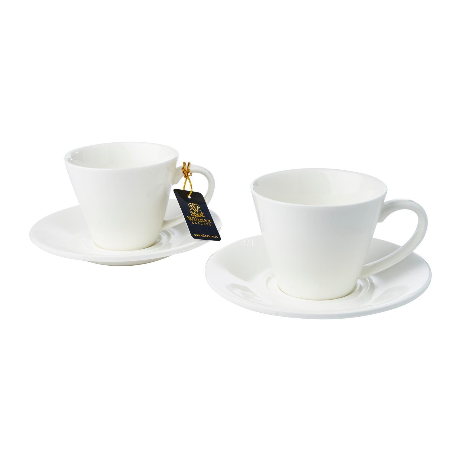 Wilmax England Porcelain Tea Cup And Saucer 180 ML (2 Piece Set)