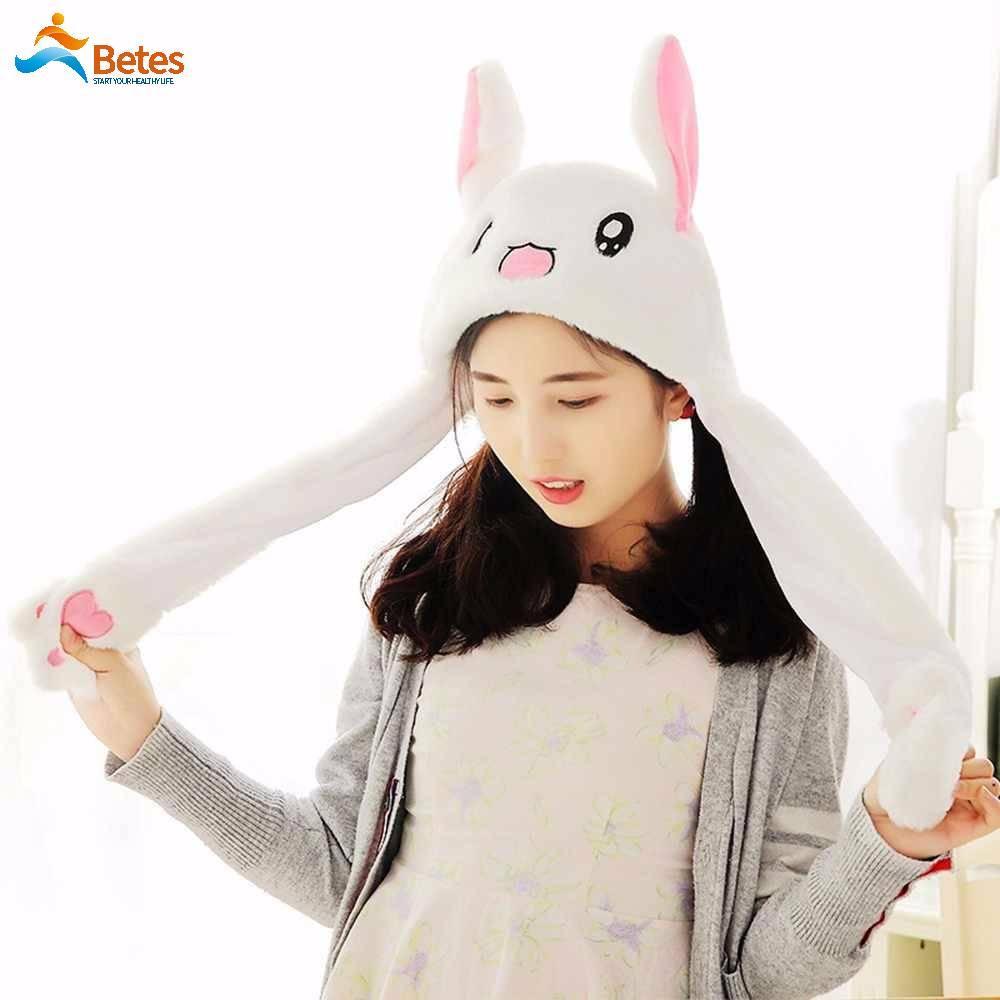 f0d1cc9cf Betes Pretty Hat Rabbit Bunny Ears Will Move The Rabbit Hat Cute Girls Gift