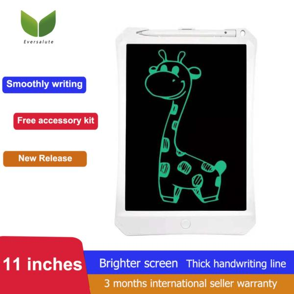 [Early Eduaction tool For Kids] Eversalute 11 Inch New Generation High Brightness Screen And Thick Handwriting Line LCD Writing Tablet Drawing Board  Electronic Graphic Drawing Tablet  Great Christmas Gift For Kids