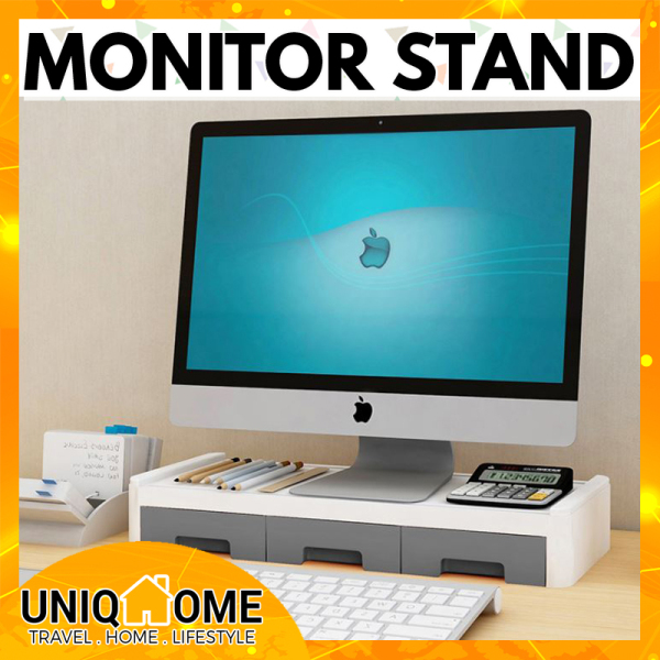 Uniqhome PC Monitor Stand computer stand Single Tier Dual Tier Table Organizer Table Organiser Office Table Organizer Office table Organiser Blue Pink Grey Color