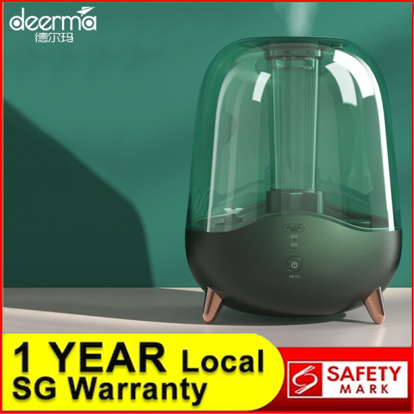 Deerma 5L Ultrasonic Humidifier Air Purifier Aroma Diffuser Essential Oil Mist Maker for Bedroom Desktop Office Household Home SG Plug Singapore