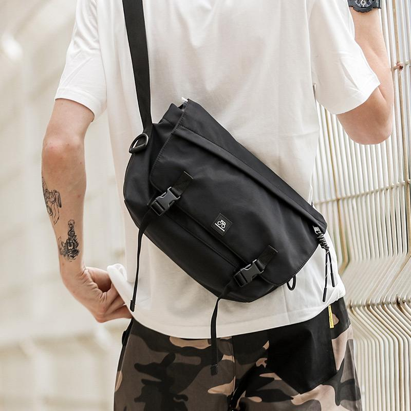 Popular Brand Shoulder Bag Men And Women Street Fashion Shoulder Bag Simple Fixed Gear Package Students Leisure Canvas WorkWear Messenger Bag