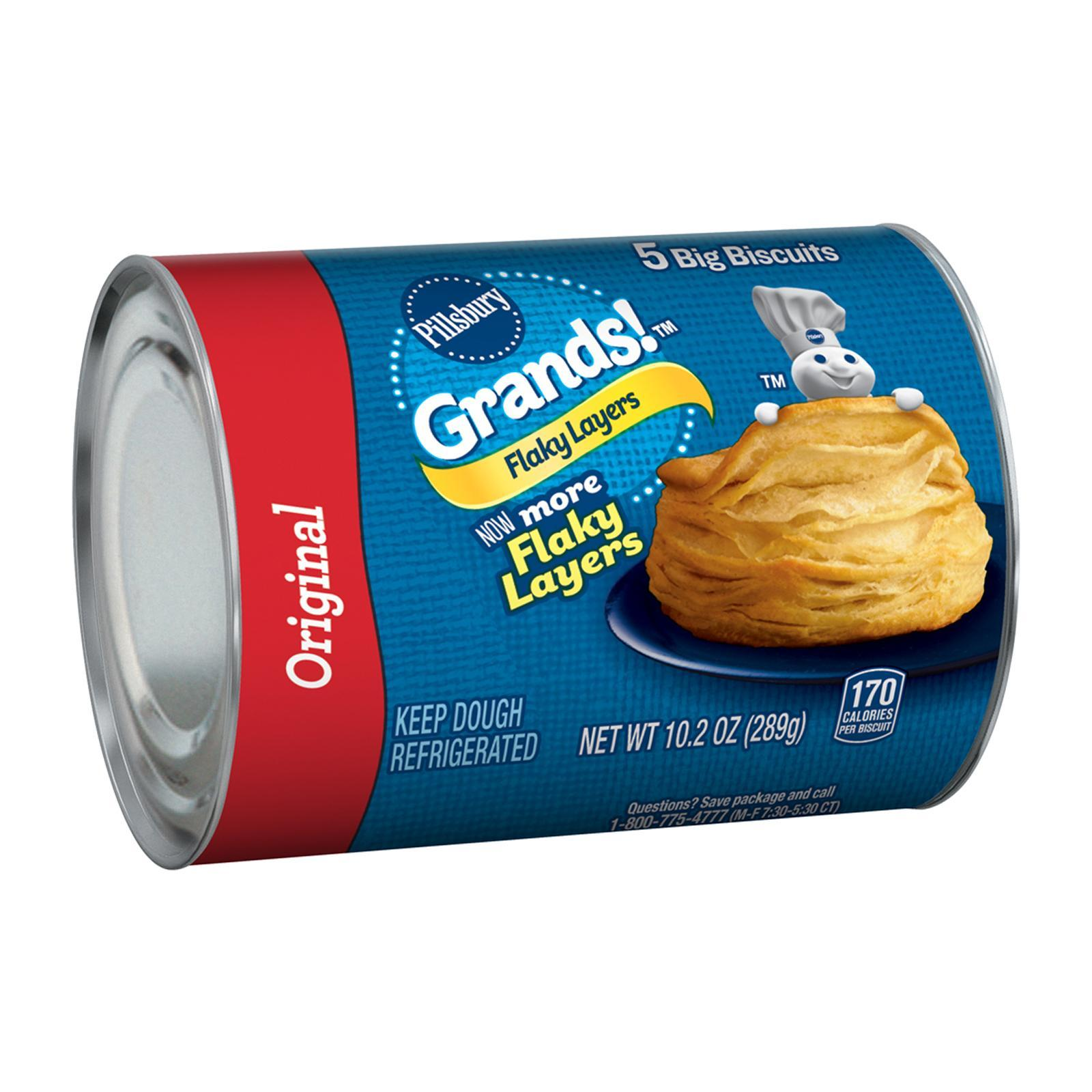 Pillsbury Grands! Chilled Flaky Layers Original Biscuits By Redmart.