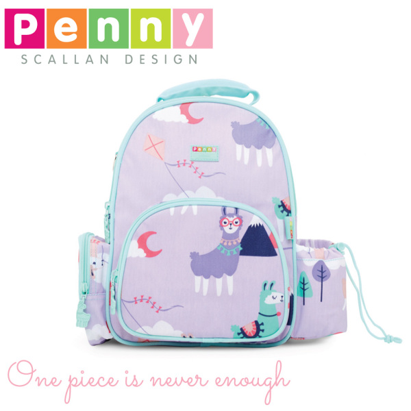 Penny Scallan Design Stain-proof Coated Medium Backpack - Loopy Llama