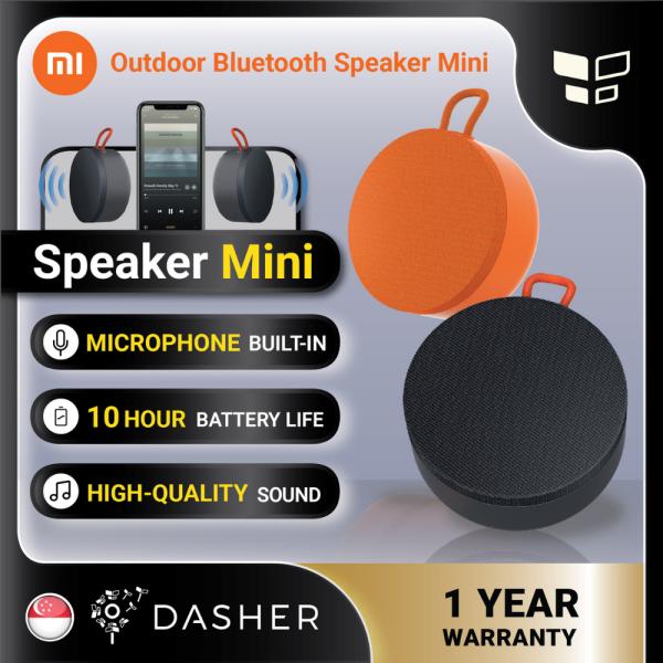 [Global] Xiaomi Outdoor Bluetooth Speaker Mini BT 5.0 10H Playtime Type C IP67 Water Resistant Portable Singapore