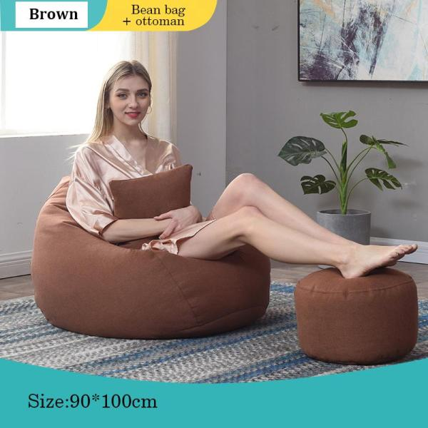 Bean Bag Sofa Chair + Ottoman