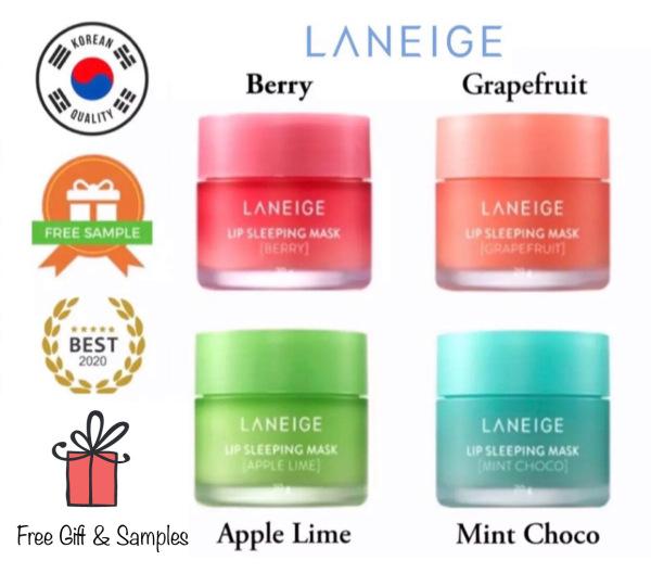 Buy 🔥SUPER SALE🔥 *LATEST 2023 EXPIRY STOCKS* Laneige Lip Sleeping Mask Berry / Grapefruit / Apple Lime / Mint Choco 20g Singapore