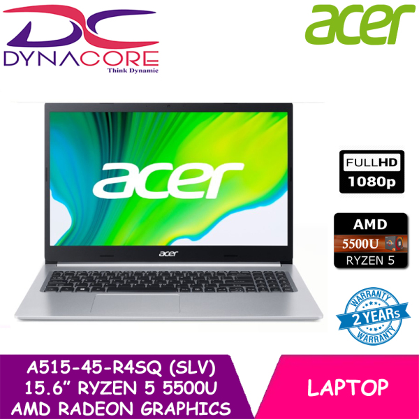 【DELIVERY IN 24 HOURS】Acer Aspire 5 A515-45-R4SQ 15.6 FHD Laptop | Ryzen 5 5500U | 8GB RAM | 256GB SSD | WIN 10 | 2year warranty by Acer
