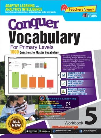 Conquer Vocabulary For Primary Levels Workbook 5 + Nuadu