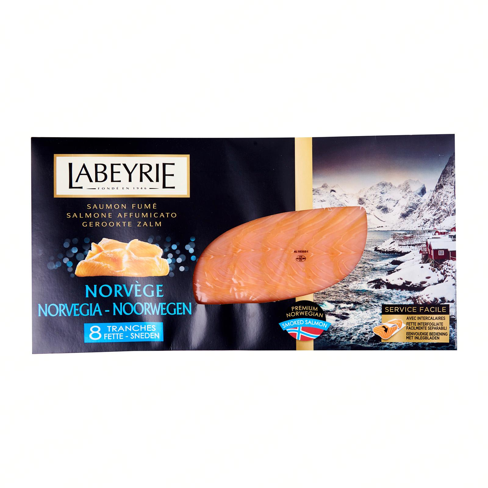 Labeyrie Norwegian Smoked Salmon - 8 Slices