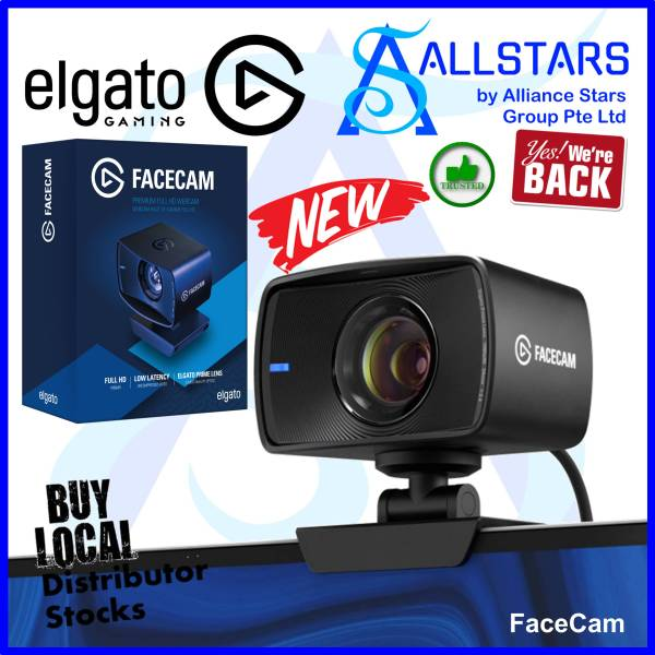 (ALLSTARS : We are Back / Live Stream PROMO) Elgato FaceCam Premium Full HD Webcam / 1080P / Low Latency / Uncompressed Video / Prime Lens / Content Creator / Live Stream / Streaming (10WAA9901) (Warranty 1year with Convergent)
