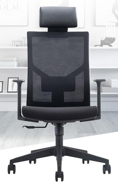 Blackish Office Chair with Head Rest Singapore