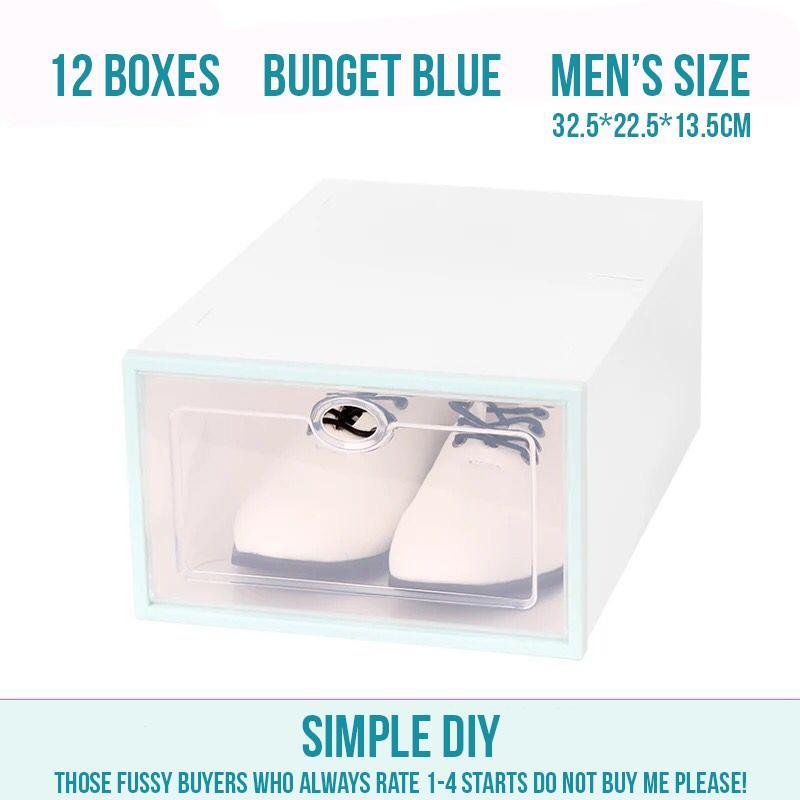 12/24/48/96 shoe storage boxes lady men translucent heel DIY rank drawer drop front shelf box organizer set SBO012 SBO014 SBO022 SBO032