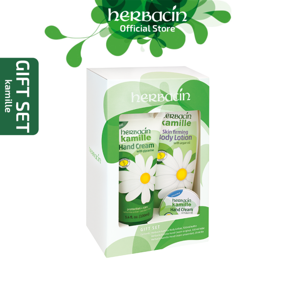Buy Herbacin Kamille Gift Set (Skin Firming Body Lotion + Kamille Hand Cream Original + Kamille Hand Cream Unscented) Singapore