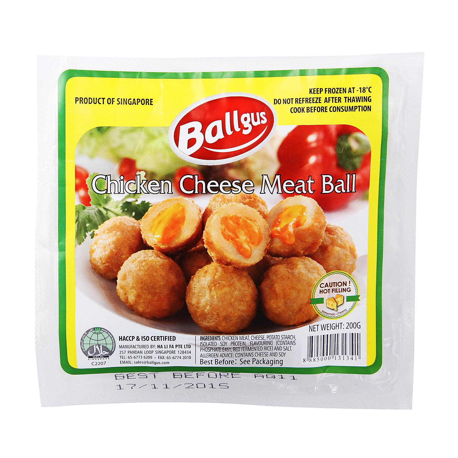 Ballgus Chicken Cheese Meatball - Frozen