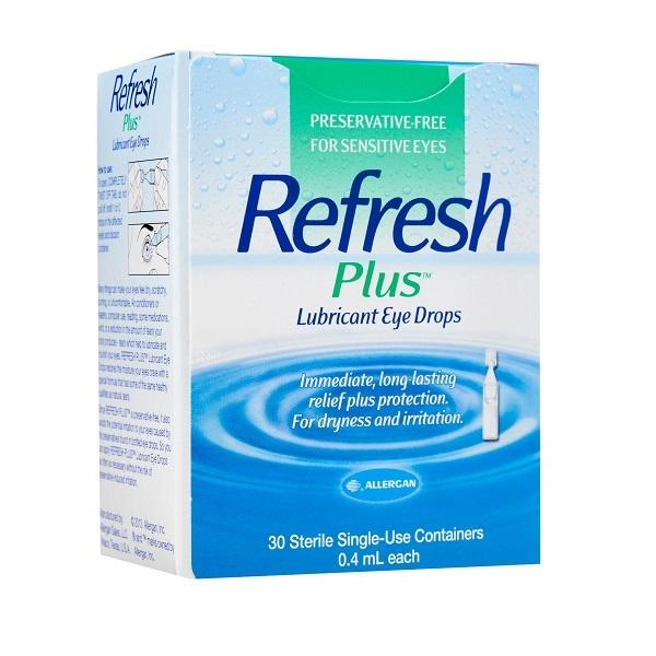 Refresh Plus Preservative-Free Lubricant Eye Drops 30 X 0.4ml Vials By The Dental Pharm.