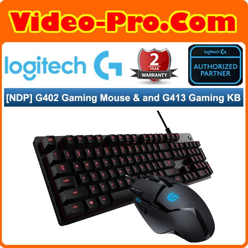 [NDP 19 Bundle A] Logitech G402 Hyperion Fury Gaming Mouse Bundle With Logitech G413 Carbon Mechanical Backlit Gaming Keyboard Singapore