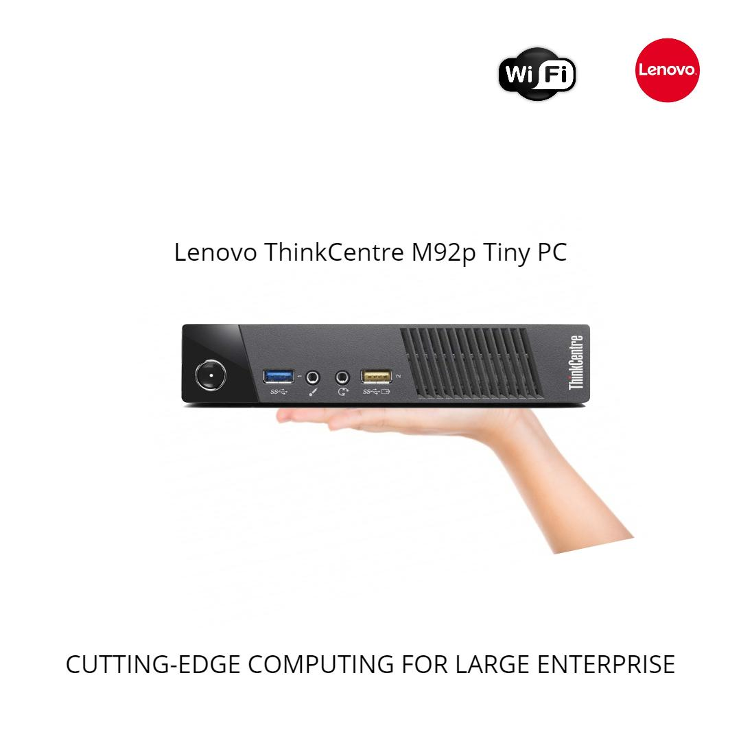 Lenovo Thinkcentre M92p Tiny I5 Desktop Business Mini Pc I5-3470t @2.9ghz 4gb 320gb Hdd Wifi /dp To Hdmi Win 10 Pro One Month Warranty-Refurbished By Le Infotech.