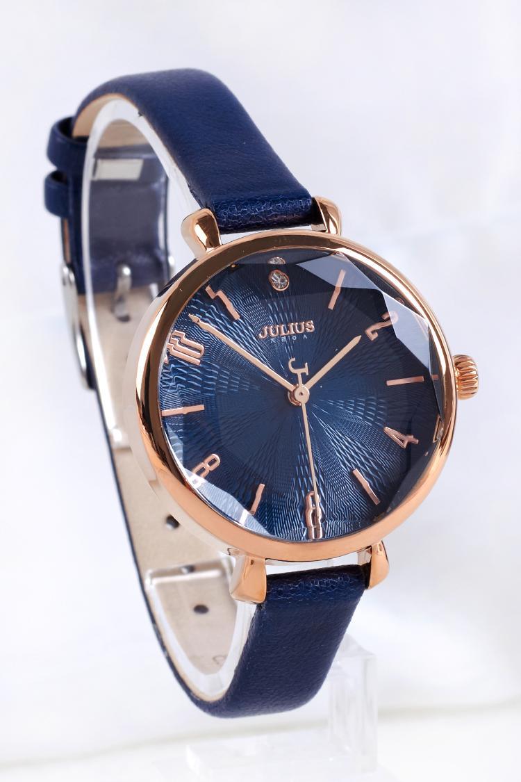 Julius julius Produk Asli Jam Tangan modis jam tangan wanita Tren Jam Tangan  Kulit asli Tahan 644bd20501