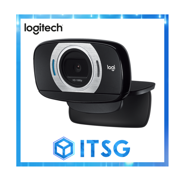 Logitech C615 1080P Fold and Go Webcam for Video Call / Conferencing (Local 2 Yr Warranty)