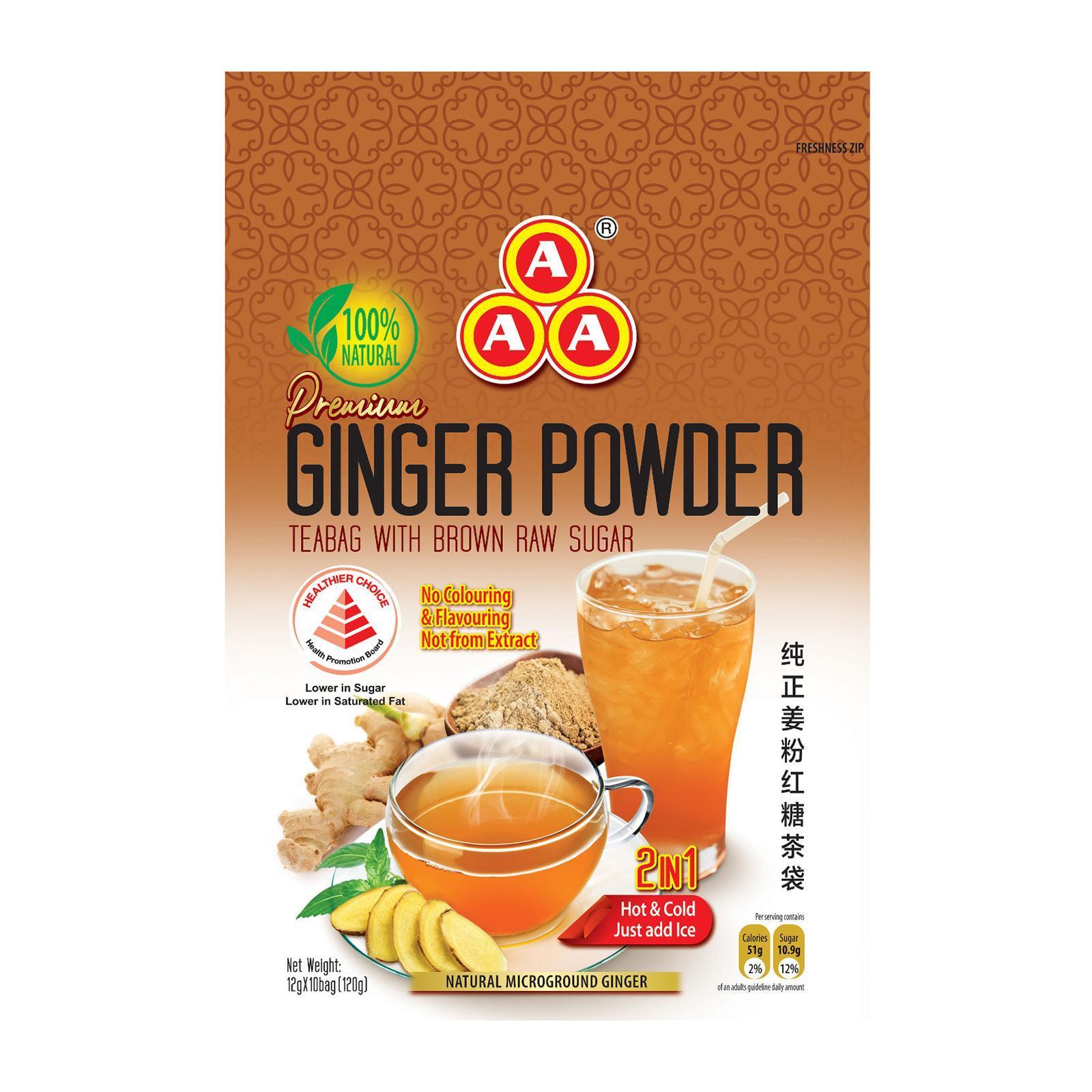 Triple A Ginger Powder Tea Bag W/Brown Sugar