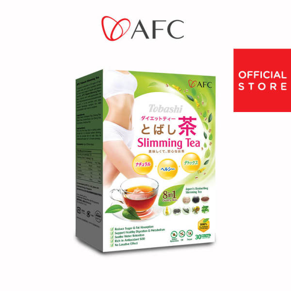 Buy AFC Tobashi Slimming Tea 30 sachets • Reduces Water Retention • Healthy Weight Loss • Detox Singapore