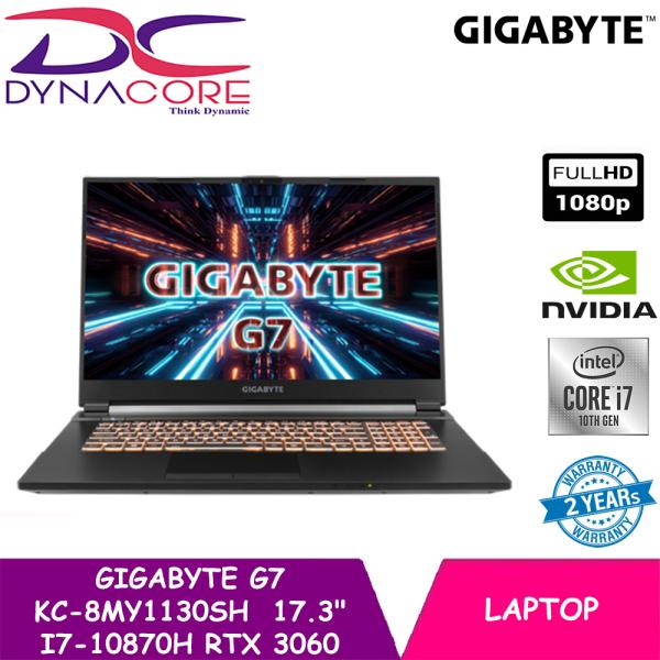 DYNACORE - GIGABYTE G7 KC-8MY1130SH  17.3 Thin Bezel FHD IPS-Level 144Hz display | i7-10870H | RTX 3060 GDDR6 6GB | 16GB DDR4 (8GBx2) | 512GB M.2 PCIe | Win 10 Home | Laptop Backpack