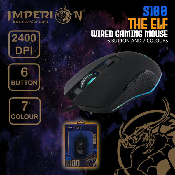 Imperion 6 Button Gaming Mouse S100 The Elf 2400 DPI