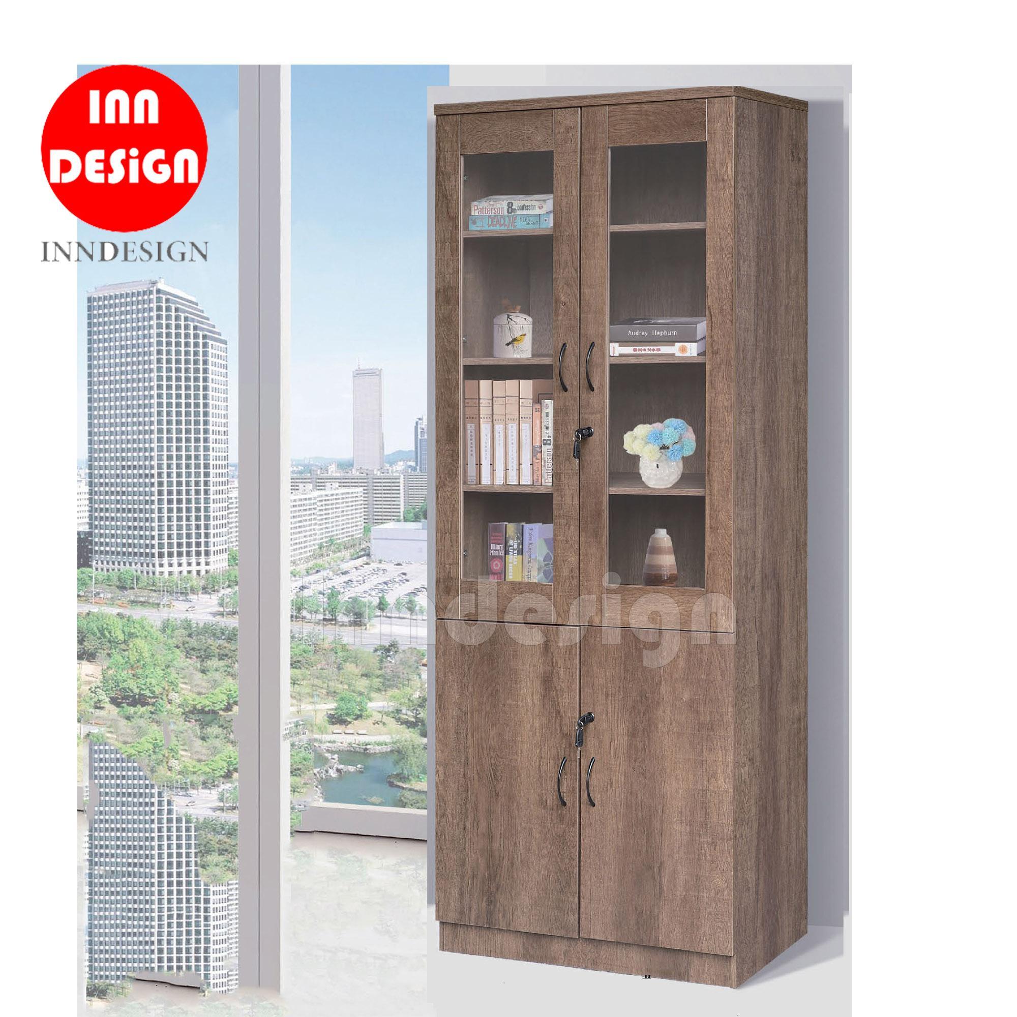 Javan II Display Bookshelf with 2 Doors Cabinet
