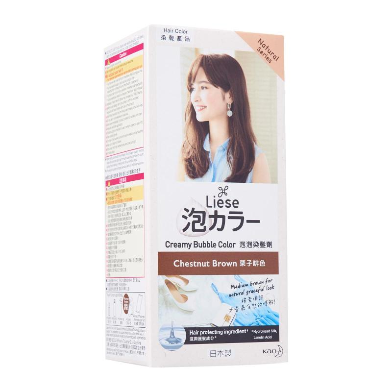 Buy Liese Natural Series Creamy Bubble Hair Color Chestnut Brown Singapore