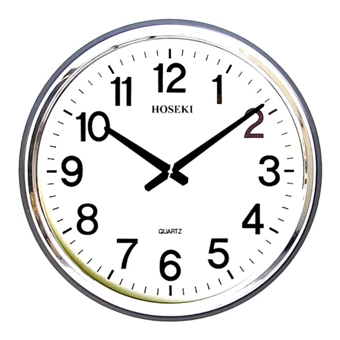 Hoseki Quartz H-8711 Musical Round Analog Melody Wall Clock