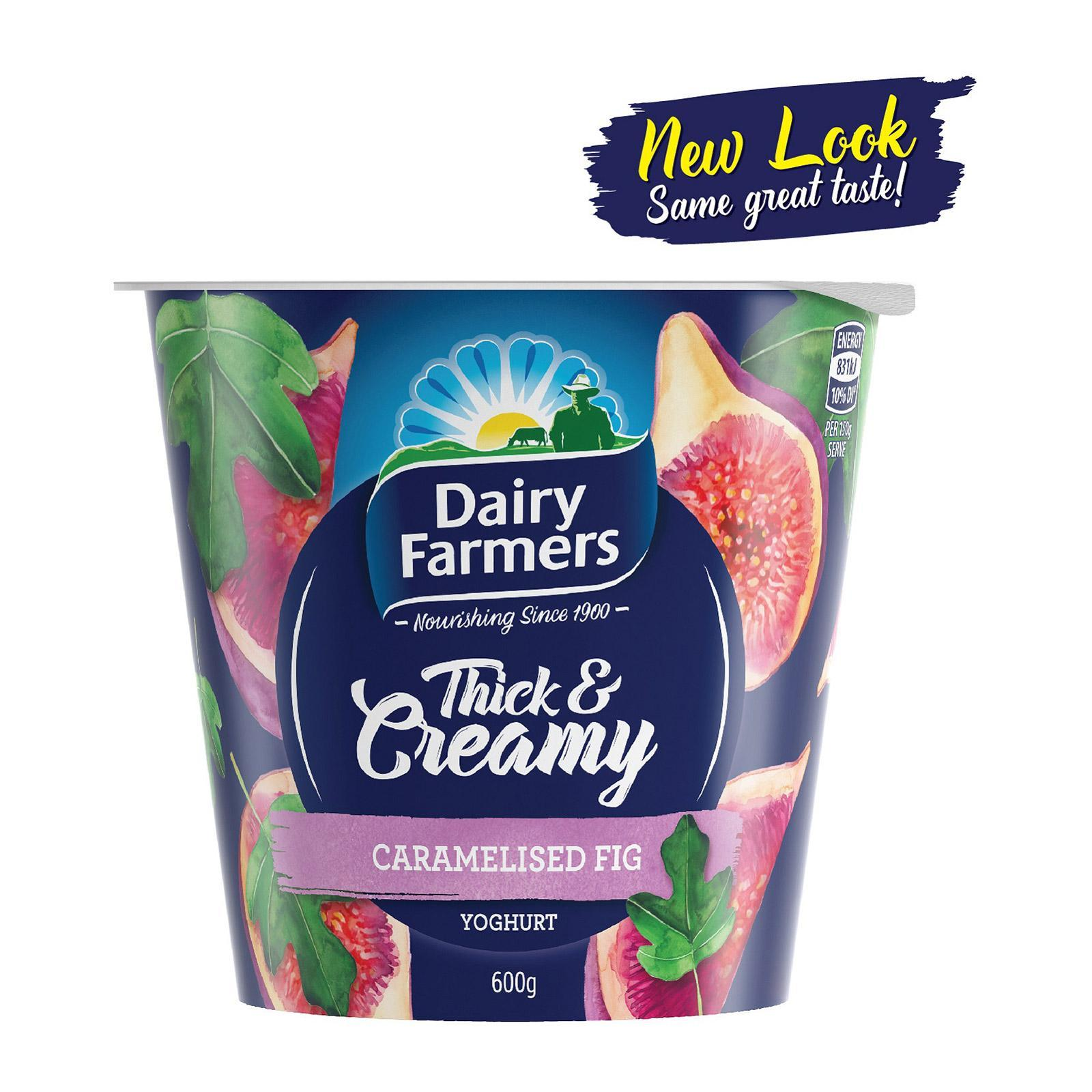 DAIRY FARMERS Yoghurt Thick & Creamy Field Strawberry 600g