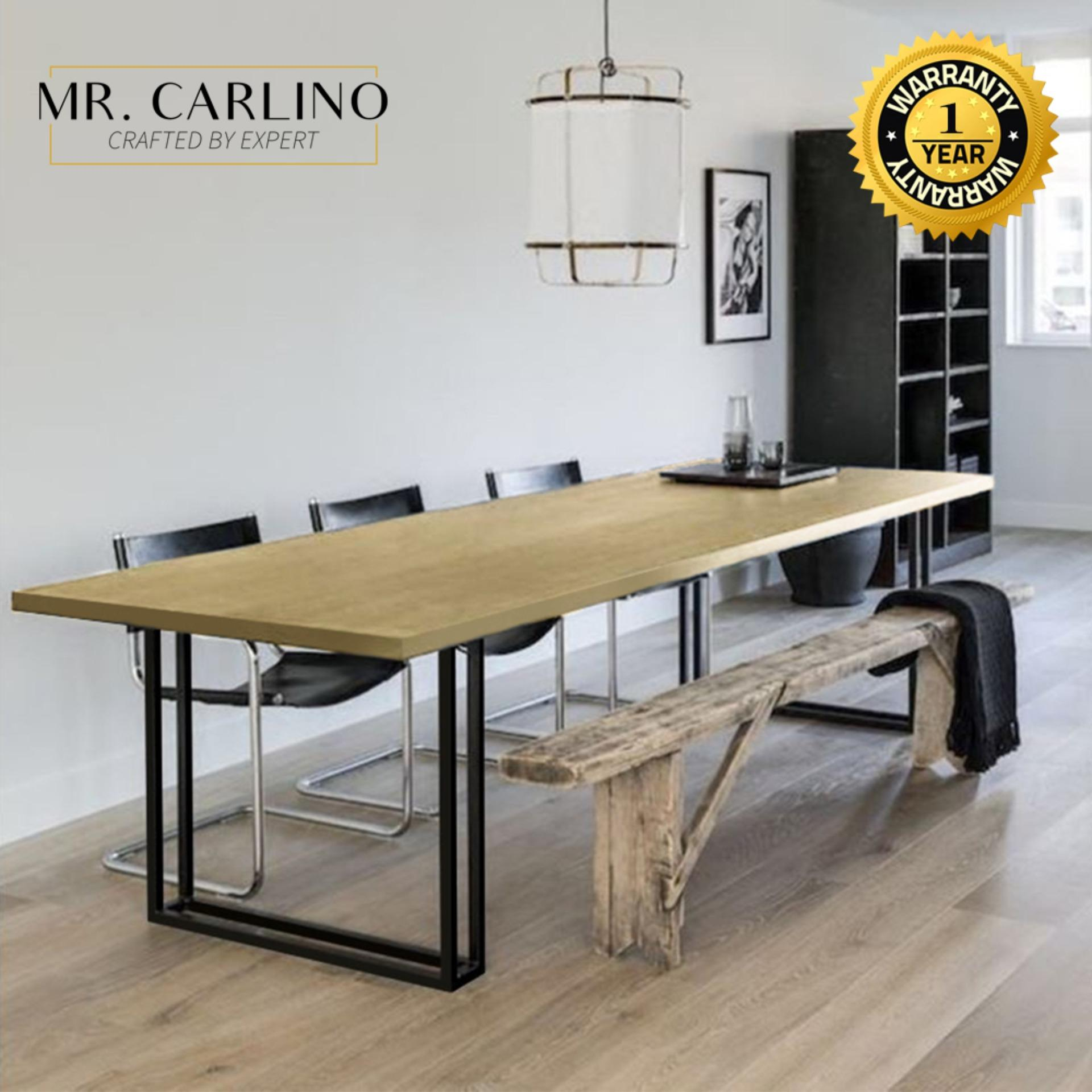 Finney [200 X 90 Cm] Retro Feels Rubber Wood 2.5 Cm Thick Dining Table By Casa Muebles.