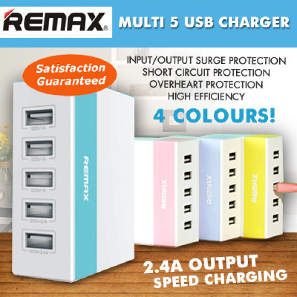 REMAX 5-PORT USB CHARGER Adapter YOUTH VERSION 2.4A RU-U1