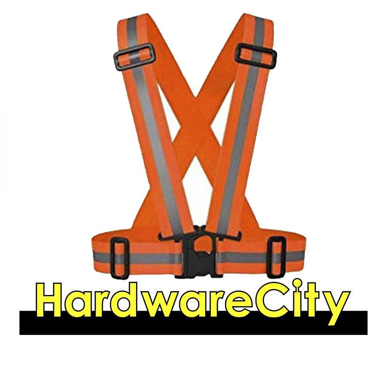 Standard Safety Reflective Elastic Strap Vest [green/orange] By Hardwarecity Online Store.