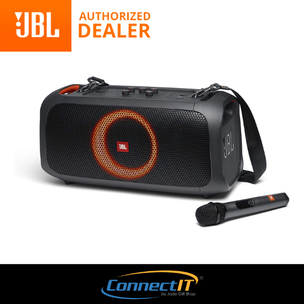 JBL Partybox On-The-Go Portable Speaker with built-in lights - wireless mic (1 Year Local Warranty) Singapore