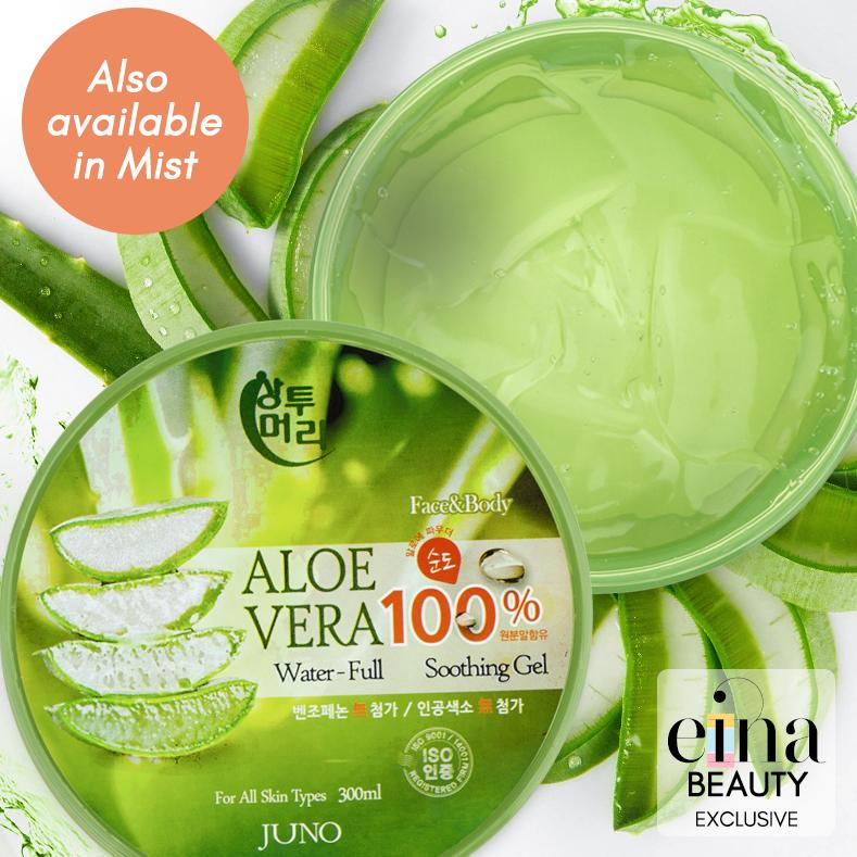 Aloe Vera 100% Water-full Soothing gel / Aloe Vera Moisturising Soothing Mist Juno Korea SG Ship