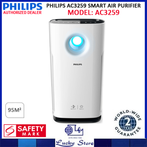 PHILIPS AC3259 SMART AIR PURIFIER, LARGE AREA COVERAGE, 2 YEARS WARRANTY, AC3259/30 Singapore
