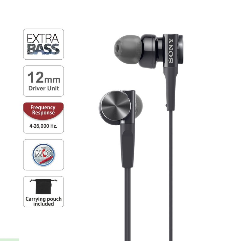 Sony MDR-XB75AP EXTRA BASS In-ear Headphones Singapore