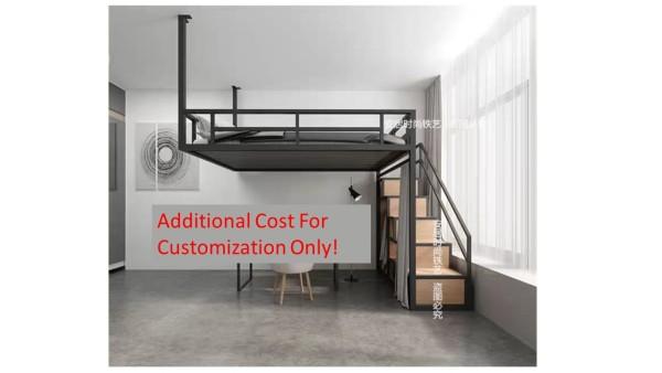 Space saving metal loft bed